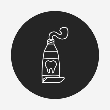 toothpaste: Toothpaste line icon Illustration