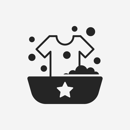 washing clothes: Washing clothes icon