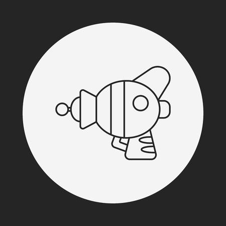 blaster: Space Gun line icon
