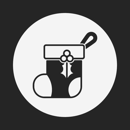 christmas icon: Christmas socks icon Illustration