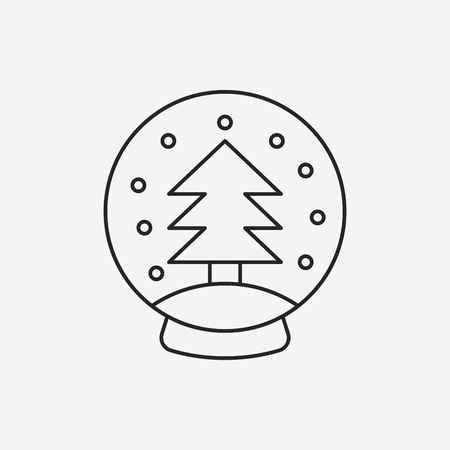 tree line: Christmas tree line icon