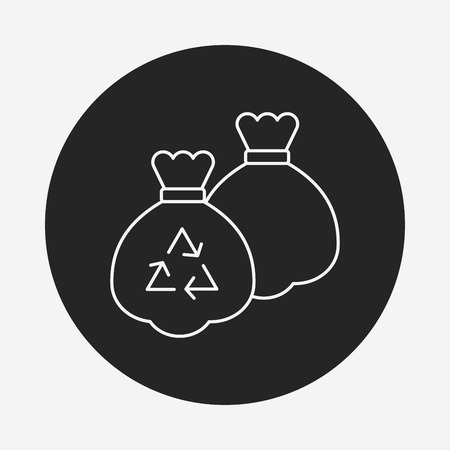 refuse: trash bag line icon