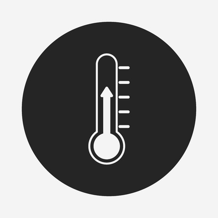 thermostat: Thermometer icon Illustration