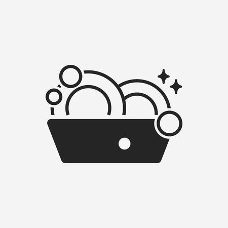 kitchen utensil: washing dishes icon