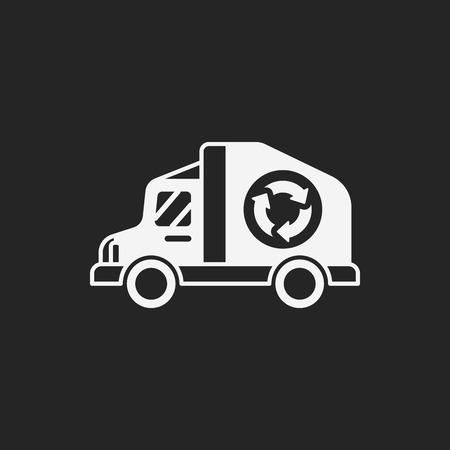 co2: Environmental protection concept green car icon Illustration