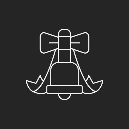 christmas icon: Christmas bell line icon