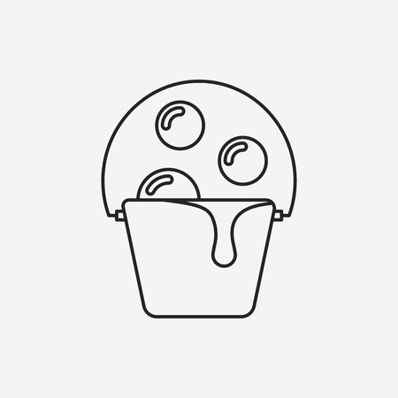 seau d eau: ic�ne de la ligne de seau d'eau