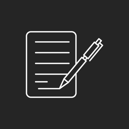 black a: financial paper line icon