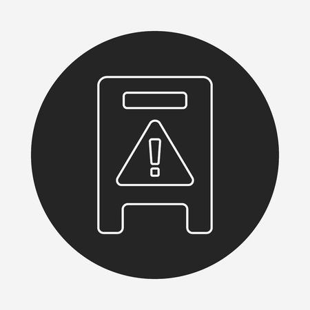 slip hazard: caution wet floor line icon