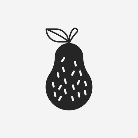 fruits guava icon Vector