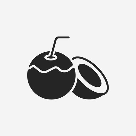 fruits coconut icon