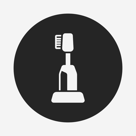 tooth brush: tooth brush icon Illustration