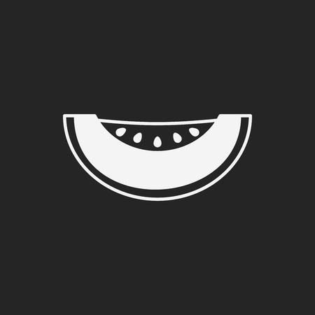 fruits melon icon Vector