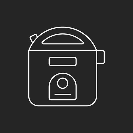 rice cooker: arroz icono de l�nea cocina