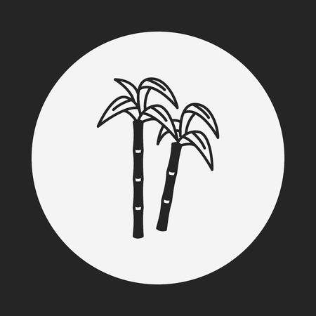 fruits sugarcane icon Illustration