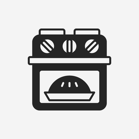 microwave oven: oven icon Illustration