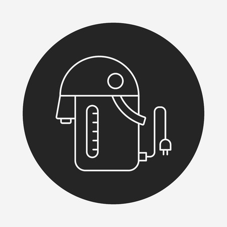 electric kettle: electric kettle line icon Illustration