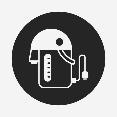 electric tea kettle: electric kettle icon Illustration