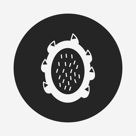 pitaya: fruits pitaya icon Illustration