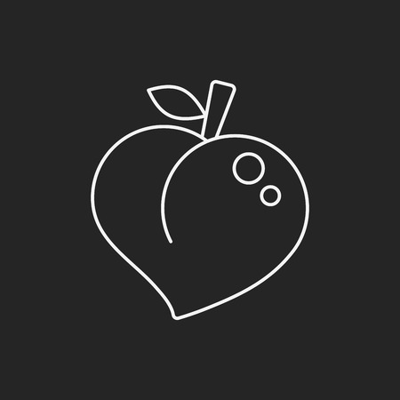 fruits peach icon Vector