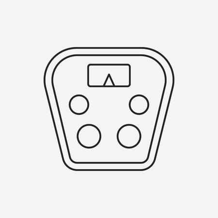 weigh machine: Weighing machine line icon Illustration