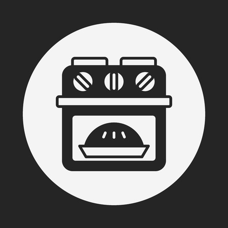 gas cooker: oven icon Illustration