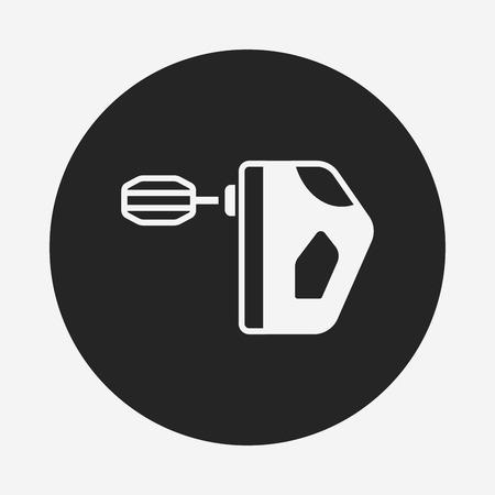beater: kitchenware beater icon Illustration