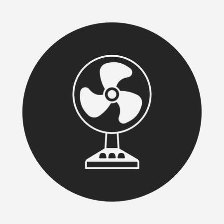 electric fan: electric fan icon Illustration