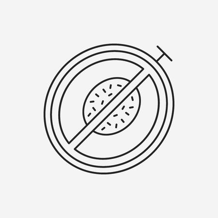 melon: fruits melon line icon