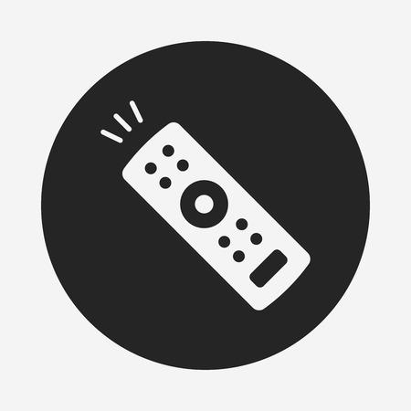 infrared: tv control icon Illustration