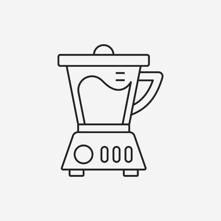 kitchenware juicer line icon Vector