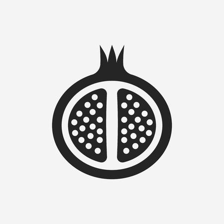pomegranate: fruits pomegranate icon Illustration