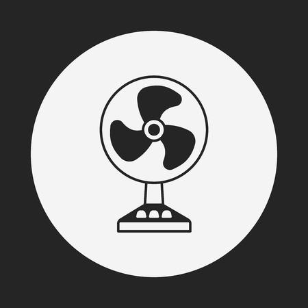 electric fan: electric fan icon Illustration
