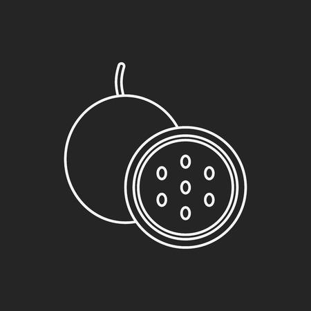 passion fruit: Passion fruit line icon