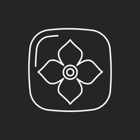 persimmon: fruits Persimmon line icon