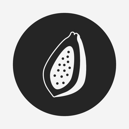 papaya: fruits papaya icon Illustration
