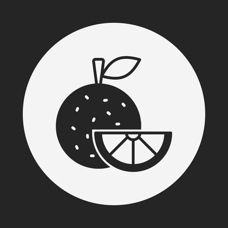 fruits orange icon Vector
