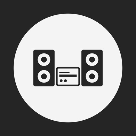 equipo de sonido: icono estéreo