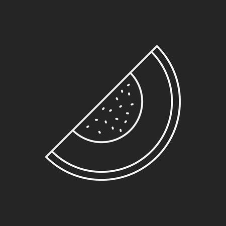 fruits watermelon line icon Vector