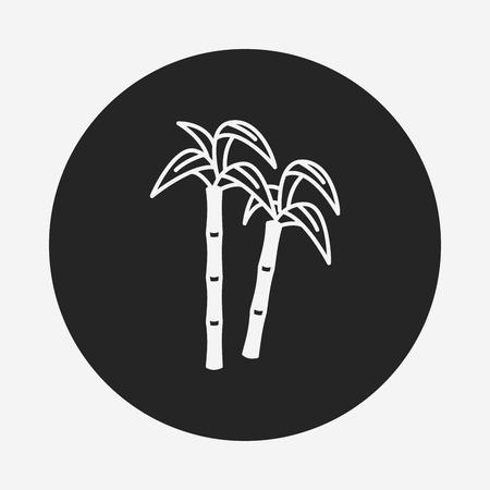 sugarcane: fruits sugarcane icon Illustration