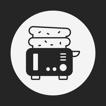 microwave ovens: toaster icon