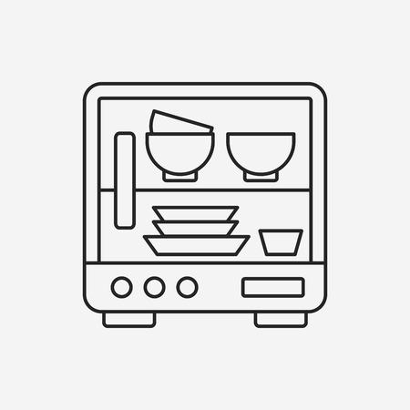 dishwasher line icon Vector