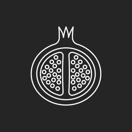 pomegranate juice: fruits pomegranate line icon