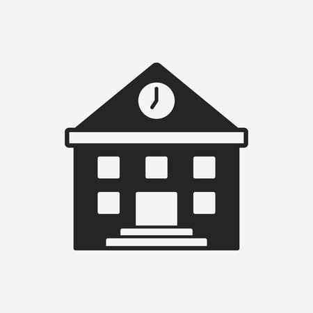 school building icon Illustration