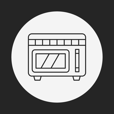 microwave: microwave line icon Illustration