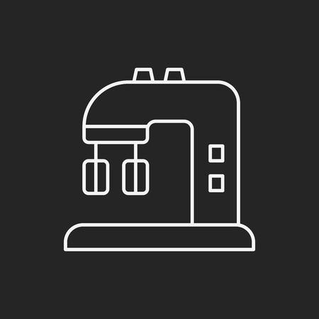 beater: utensilios de cocina icono de l�nea batidor