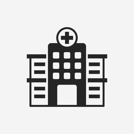 building exterior: hospital icon