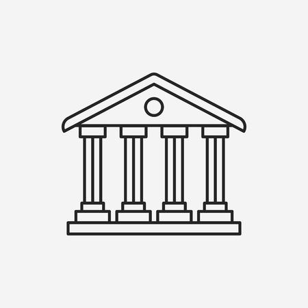 roman column: bank line icon