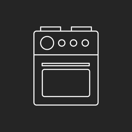 gas cooker: oven line icon
