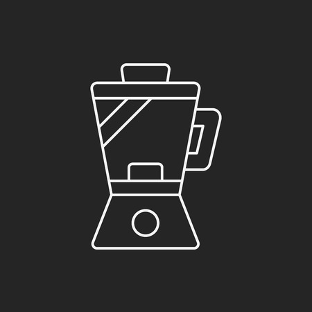 liquidizer: kitchenware juicer line icon Illustration